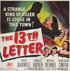 The 13th Letter - 30 x 30 Movie Poster - Style A
