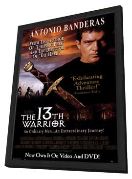 The 13th Warrior - 11 x 17 Movie Poster - Style B - in Deluxe Wood Frame