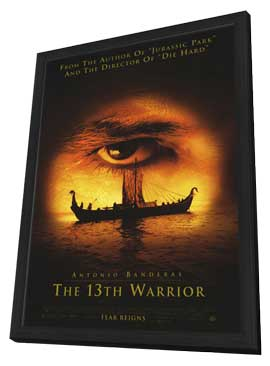 The 13th Warrior - 27 x 40 Movie Poster - Style A - in Deluxe Wood Frame