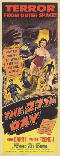 The 27th Day - 11 x 17 Movie Poster - Style A
