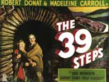The 39 Steps - 11 x 17 Movie Poster - Swedish Style G