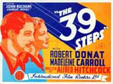 The 39 Steps - 22 x 28 Movie Poster - Half Sheet Style A