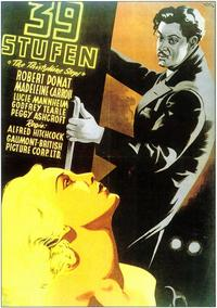 The 39 Steps - 11 x 17 Movie Poster - German Style A