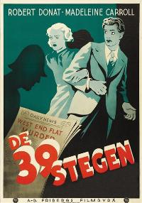 The 39 Steps - 11 x 17 Movie Poster - Swedish Style C
