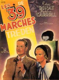 The 39 Steps - 11 x 17 Movie Poster - French Style B