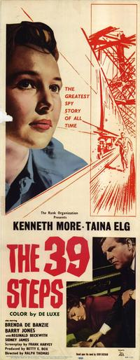 The 39 Steps - 14 x 36 Movie Poster - Insert Style A