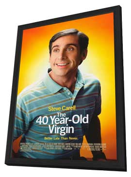 The 40 Year Old Virgin - 11 x 17 Movie Poster - Style B - in Deluxe Wood Frame