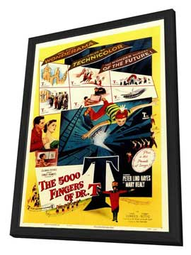 The 5000 Fingers of Dr. T - 11 x 17 Movie Poster - Style A - in Deluxe Wood Frame