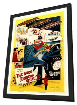The 5000 Fingers of Dr. T - 27 x 40 Movie Poster - Style A - in Deluxe Wood Frame