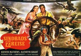 The 7th Voyage of Sinbad - 11 x 17 Movie Poster - German Style A