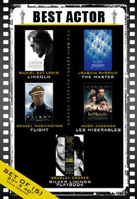 The 85th Annual Academy Awards - 27 x 40 Movie Posters - Best Lead Actor Poster Pack: (5)