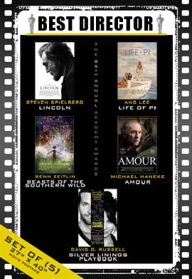 The 85th Annual Academy Awards - 27 x 40 Movie Posters - Best Director Poster Pack: (5)