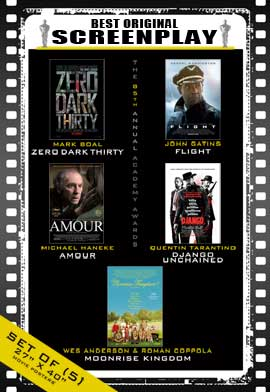 The 85th Annual Academy Awards - 27 x 40 Movie Posters - Best Original Screenplay Poster Pack: (5)