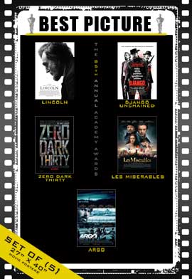 The 85th Annual Academy Awards - 27 x 40 Movie Posters - Best Picture Poster Pack: (5)