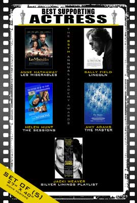 The 85th Annual Academy Awards - 27 x 40 Movie Posters - Best Supporting Actress Poster Pack: (5)