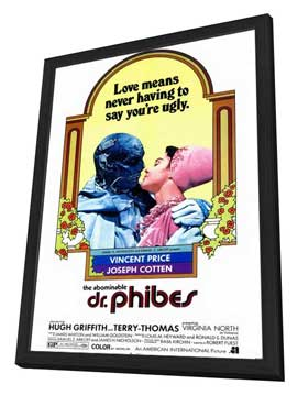 The Abominable Dr. Phibes - 11 x 17 Movie Poster - Style A - in Deluxe Wood Frame