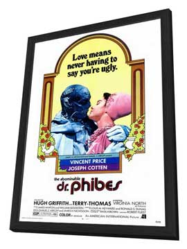 The Abominable Dr. Phibes - 27 x 40 Movie Poster - Style A - in Deluxe Wood Frame