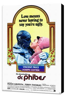 The Abominable Dr. Phibes - 11 x 17 Movie Poster - Style A - Museum Wrapped Canvas