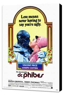 The Abominable Dr. Phibes - 27 x 40 Movie Poster - Style A - Museum Wrapped Canvas