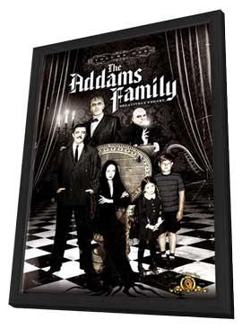 The Addams Family - 27 x 40 Movie Poster - Style A - in Deluxe Wood Frame