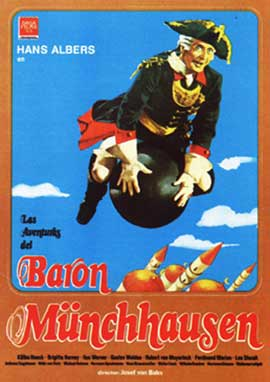 The Adventures of Baron Munchausen - 11 x 17 Movie Poster - Spanish Style A