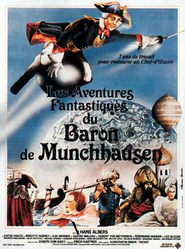 The Adventures of Baron Munchausen - 11 x 17 Movie Poster - French Style A