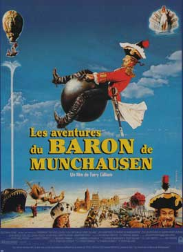 The Adventures of Baron Munchausen - 11 x 17 Movie Poster - French Style B
