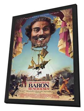 The Adventures of Baron Munchausen - 27 x 40 Movie Poster - Style A - in Deluxe Wood Frame
