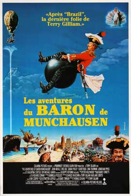 The Adventures of Baron Munchausen - 27 x 40 Movie Poster - French Style A