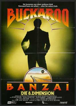The Adventures of Buckaroo Banzai Across the Eighth Dimension - 11 x 17 Movie Poster - German Style A