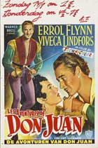 The Adventures of Don Juan - 11 x 17 Movie Poster - Belgian Style A