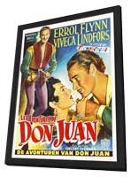 The Adventures of Don Juan - 11 x 17 Movie Poster - Belgian Style A - in Deluxe Wood Frame