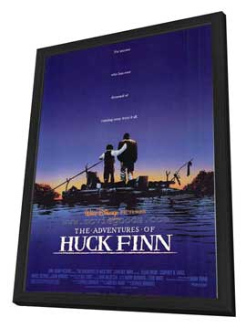 The Adventures of Huck Finn - 27 x 40 Movie Poster - Style A - in Deluxe Wood Frame