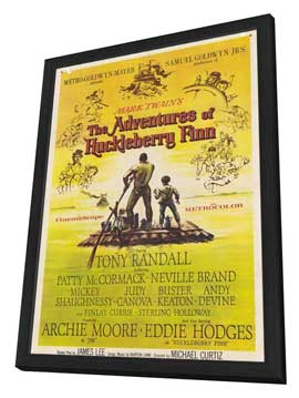 The Adventures of Huckleberry Finn - 11 x 17 Movie Poster - Style A - in Deluxe Wood Frame