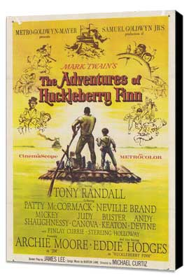 The Adventures of Huckleberry Finn - 11 x 17 Movie Poster - Style A - Museum Wrapped Canvas