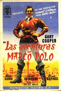 The Adventures of Marco Polo - 11 x 17 Movie Poster - Spanish Style B