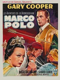 The Adventures of Marco Polo - 11 x 17 Movie Poster - Belgian Style A