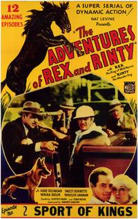 The Adventures of Rex and Rinty - 11 x 17 Movie Poster - Style A