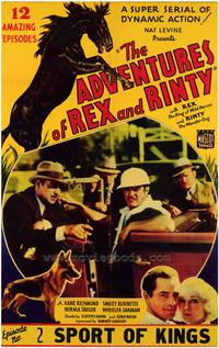 The Adventures of Rex and Rinty - 43 x 62 Movie Poster - Bus Shelter Style A