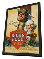 The Adventures of Robin Hood - 11 x 17 Movie Poster - Style M - in Deluxe Wood Frame