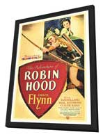The Adventures of Robin Hood - 27 x 40 Movie Poster - Style A - in Deluxe Wood Frame