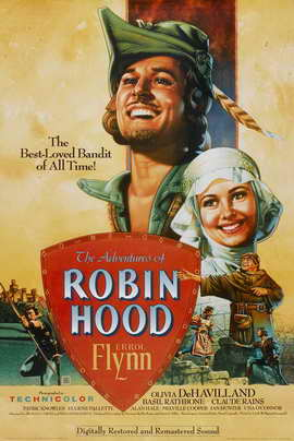 The Adventures of Robin Hood - 11 x 17 Movie Poster - Style M