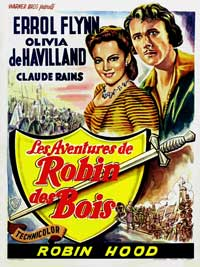 The Adventures of Robin Hood - 27 x 40 Movie Poster - Belgian Style A