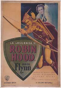 The Adventures of Robin Hood - 11 x 17 Movie Poster - Italian Style A