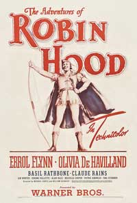 The Adventures of Robin Hood - 27 x 40 Movie Poster - Style F