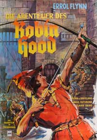 The Adventures of Robin Hood - 27 x 40 Movie Poster - German Style A