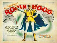 The Adventures of Robin Hood - 22 x 28 Movie Poster - Half Sheet Style A