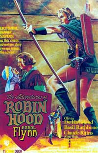 The Adventures of Robin Hood - 11 x 17 Movie Poster - Style Q