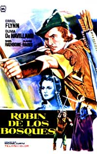The Adventures of Robin Hood - 11 x 17 Movie Poster - Spanish Style L