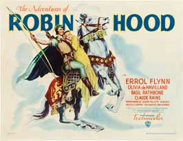 The Adventures of Robin Hood - 22 x 28 Movie Poster - Half Sheet Style B